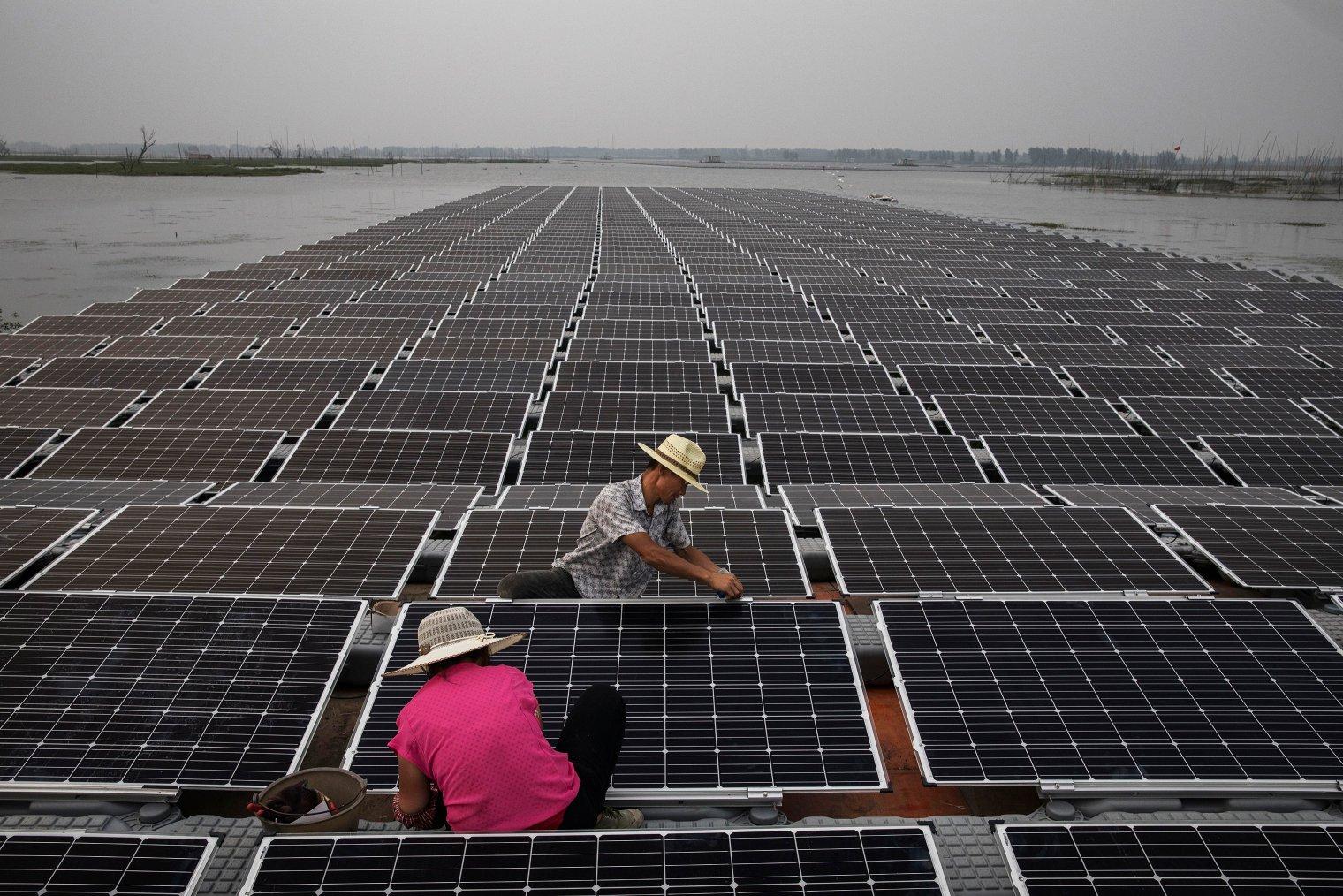 yüzen güneş panelleri